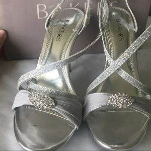 Bakers Skye High silver heels